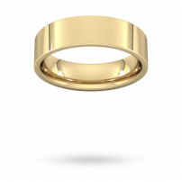 6mm Flat Top Court Shaped Wedding Ring