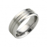 Titanium Patterned Wedding Ring