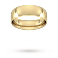 7mm Court Shaped Wedding Ring