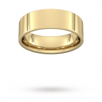 7mm Flat Top Court Shaped Wedding Ring