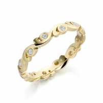 9ct Yellow Gold Vintage style Wedding Ring