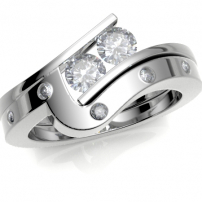 Platinum Shaped to Fit Diamond Wedding Ring