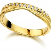 18ct Yellow Gold Diamond Wedding Ring
