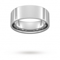 8mm Flat Top Court Shaped Wedding Ring