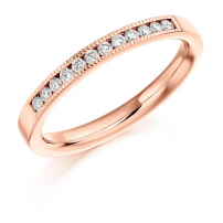 9ct Rose Gold Diamond Set Wedding Ring