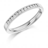 9ct Rose Gold Diamond Set Wedding Ring