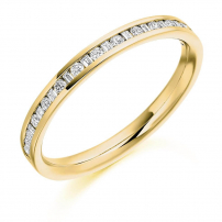 9ct White Gold Baguette and Brilliant cut Half Set Ring