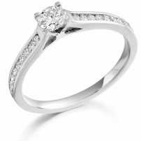 9ct White Gold Brilliant Cut Diamond Engagement Ring