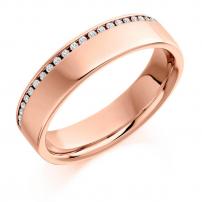 9ct White Gold Fully Set Ladies Diamond Wedding Ring