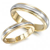 9ct Yellow and White Gold Two-Colour Matching Set