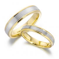 9ct Yellow and White Gold Two-Toned Wedding Rings