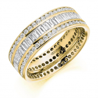 9ct Yellow Gold 2.40ct Diamond Wedding Ring
