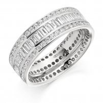 9ct Yellow Gold 2.40ct Diamond Wedding Ring