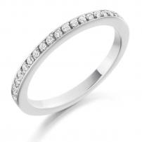 9ct Yellow Gold Diamond Set Claw Wedding Ring