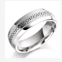 9ct White Gold Celtic Wedding Ring