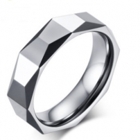 Tungsten Patterned Wedding Ring