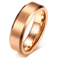 Tungsten Rose Gold Plated Wedding Ring