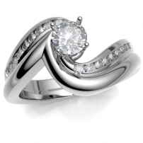 18ct White Gold Shaped to Fit Wedding Ring