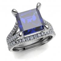 Platinum Diamond Set Curved to Fit Wedding Ring