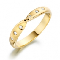 9ct Yellow Gold Diamond Wedding Ring