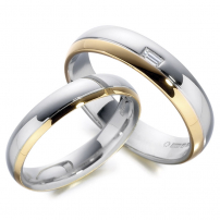 Ladies and Gents 9ct Two-Colour Gold Matching Set