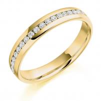 Ladies Channel Set Diamond Wedding Ring