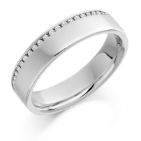 Palladium Brilliant Cut Diamond Wedding Ring