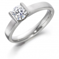 Palladium Brilliant Cut Tension Set Engagement Ring