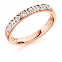 Palladium Diamond Set Wedding Ring