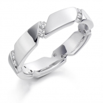 Palladium Full Set Diamond Wedding Ring