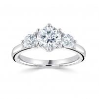 Platinum Brilliant Cut Diamond Trilogy Ring