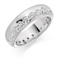 Platinum Brilliant Cut Full Diamond Wedding Ring