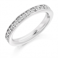 Platinum Claw Half Set Wedding Ring