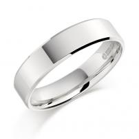 Platinum Slight Bevelled Edge Wedding Ring