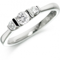Platinum Trilogy Style Engagement Ring