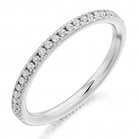 White Gold Full Set Diamond Wedding Ring
