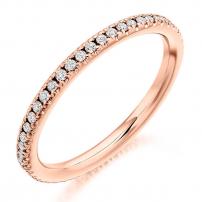 White Gold Full Set Diamond Wedding Ring